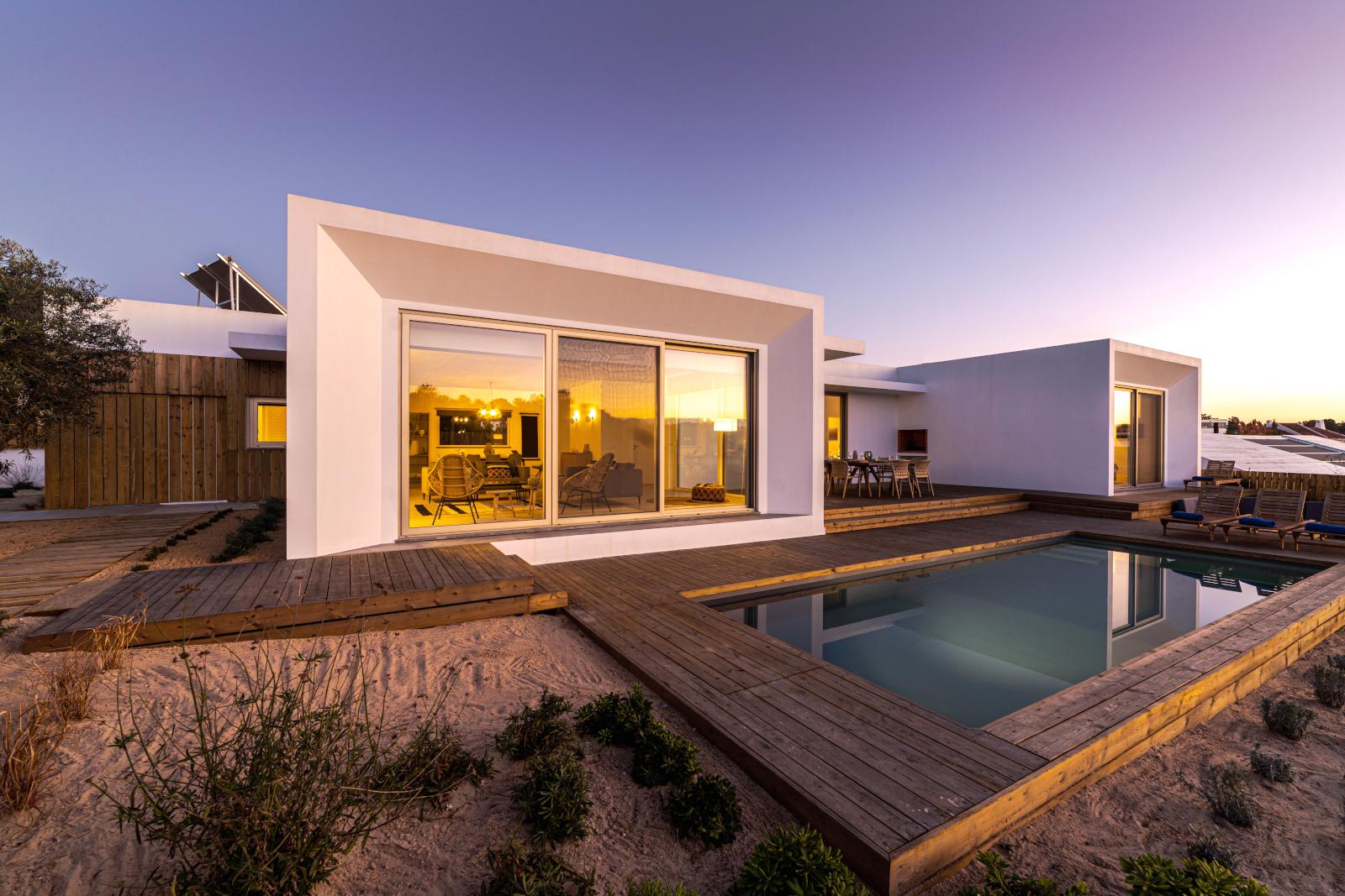 Reforma piscina chalet moderno